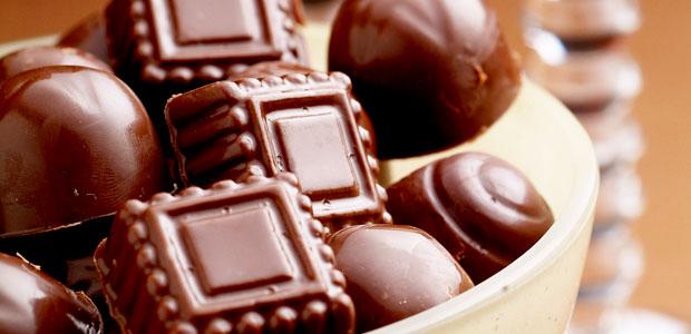 bombons de chocolate para presente