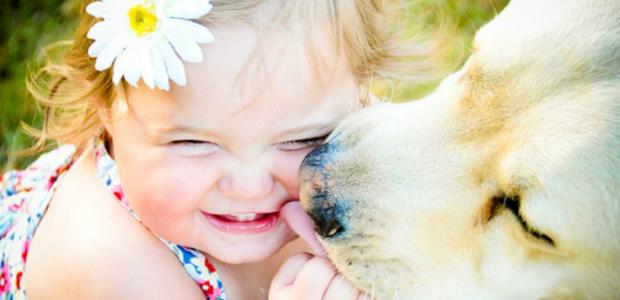 Crianças e cães melhores amigos