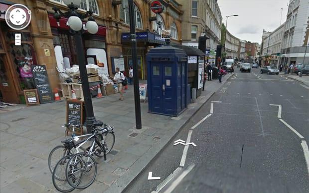 Tardis, de Doctor Who, no Google Maps