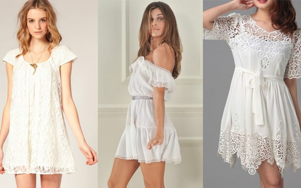 Vestidos leves de cor branca - Primavera Verão 2014