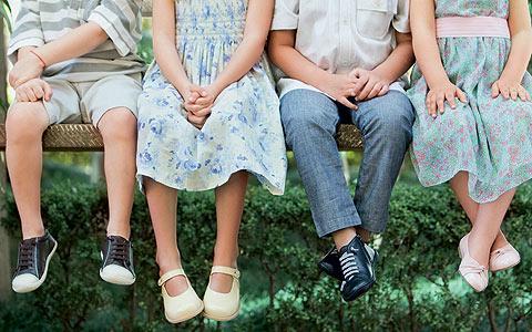 Calçados ideais para crianças
