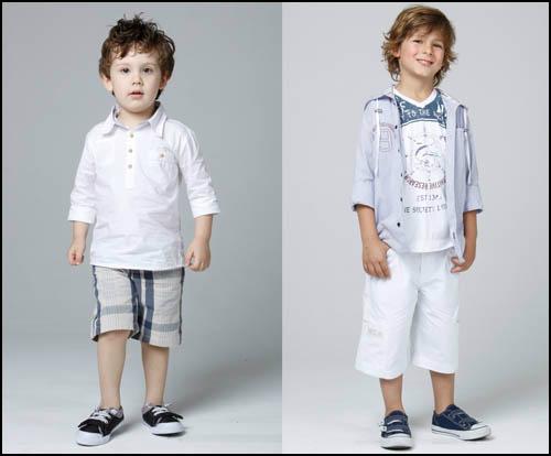 Meninos na moda e confortáveis Roupas para meninos 7776704a097