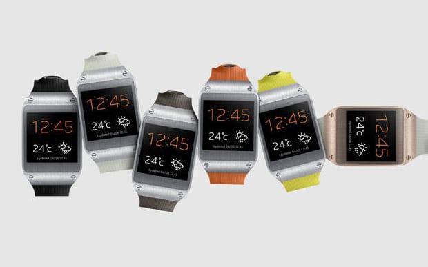 Smartwatch Galaxy Gear em várias cores