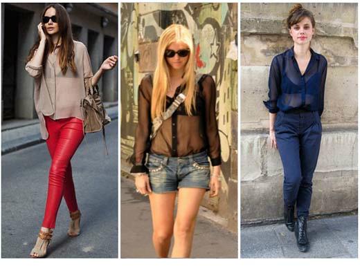 Moda de roupas transparentes