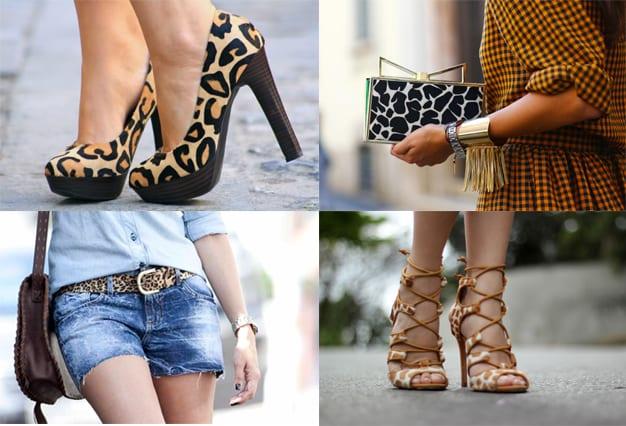Sapatos, bolsa e acessórios com animal print