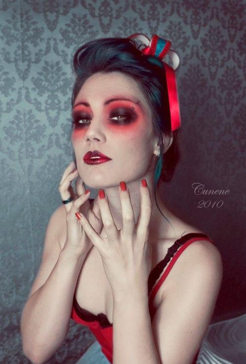 Maquiagem para halloween vampira sexy