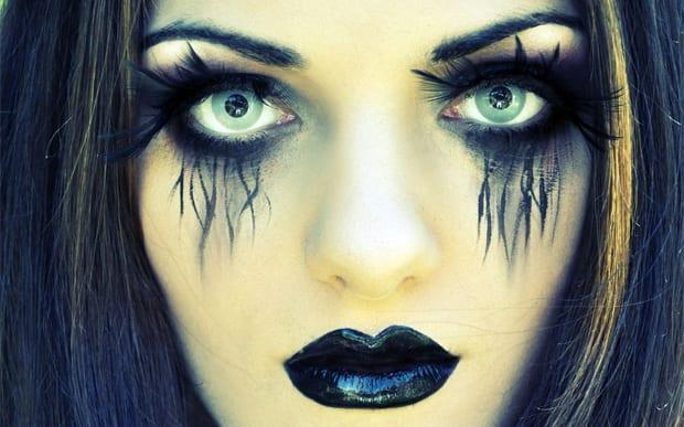 Maquiagem Halloween moderna