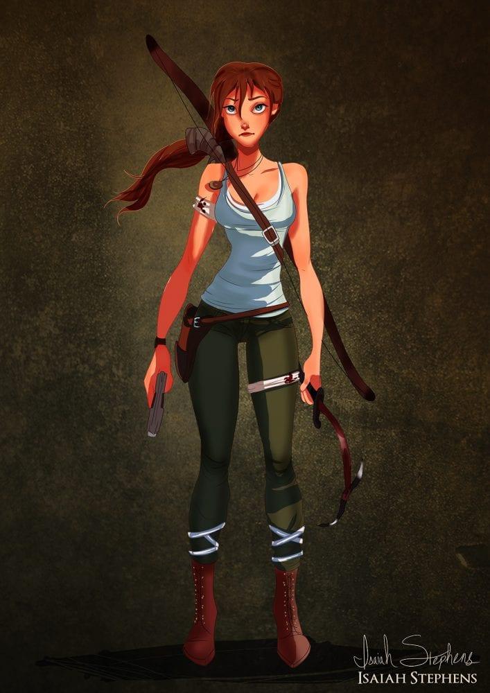 Halloween: Jane Porter (Tarzan) fantasiada de Lara Croft