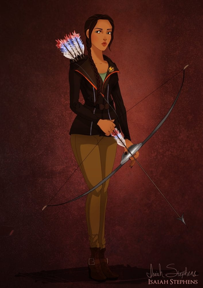 Halloween: Pocahontas fantasiada de Katniss Everdeen (Jogos Vorazes)