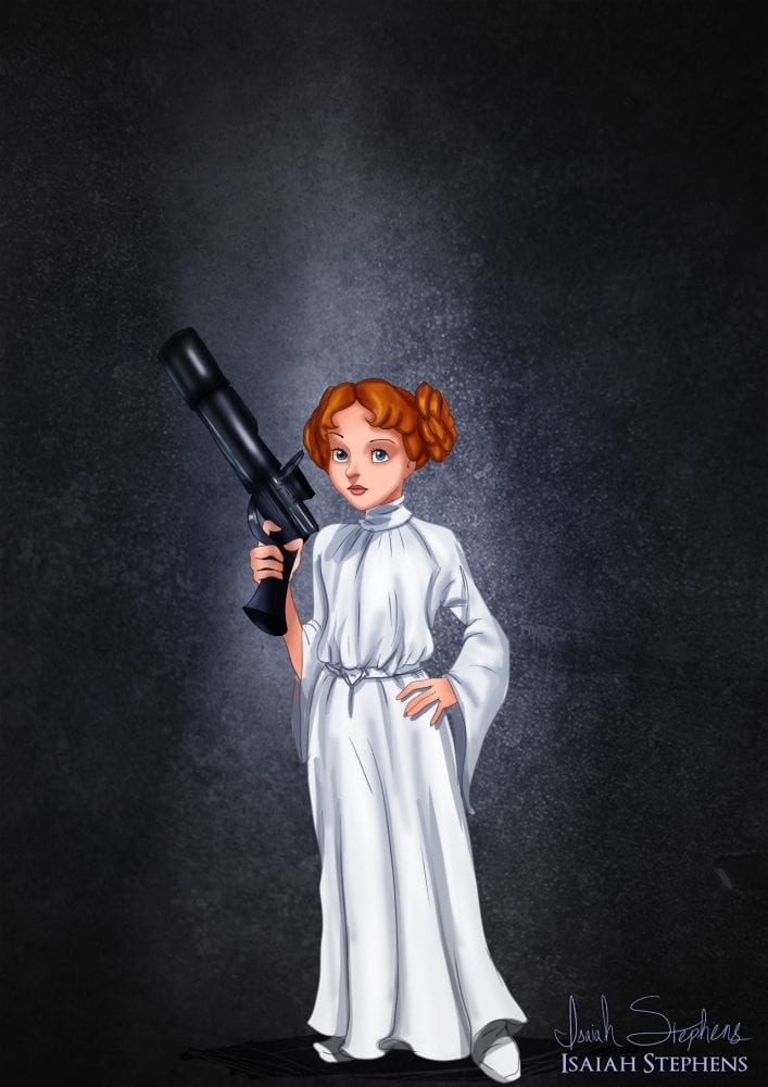 Halloween: Wendy fantasiada de Princesa Leia