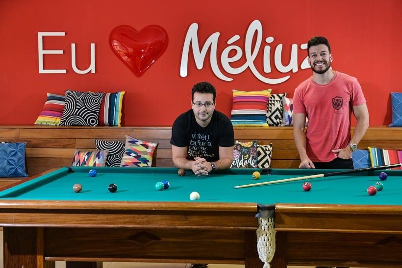 BELO HORIZONTE / MINAS GERAIS / BRASIL (07.04.2016) - Meliuz - Os socios Ofli Guimaraes (de preto) e Israel Salmen (de vermelho).    Foto: Juliana Flister / Agencia i7